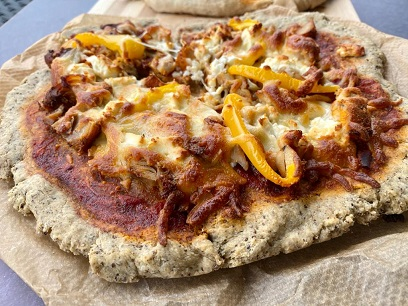 Coconut and chia gluten free pizza base
